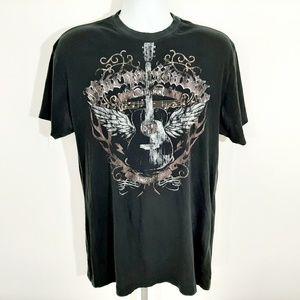 Margaritaville Mens T-Shirt Size L Black SV20